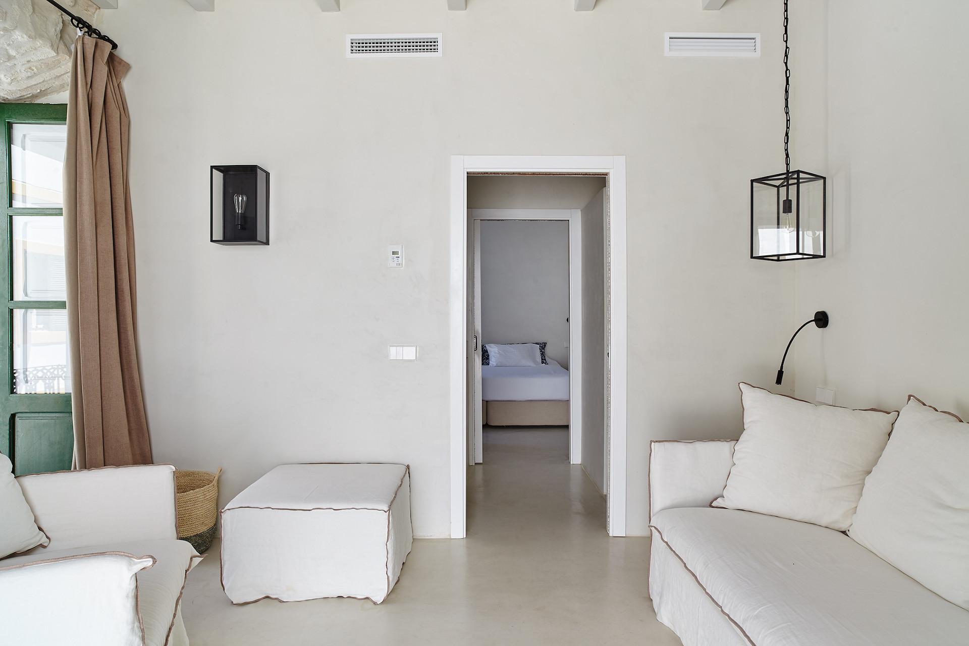 Salón Habitación Hotel Torre del Canónigo Ibiza